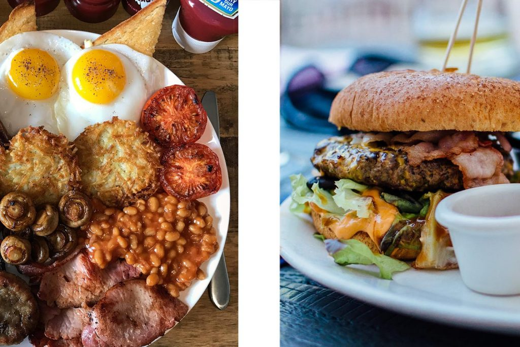 Bryn Bettws food montage