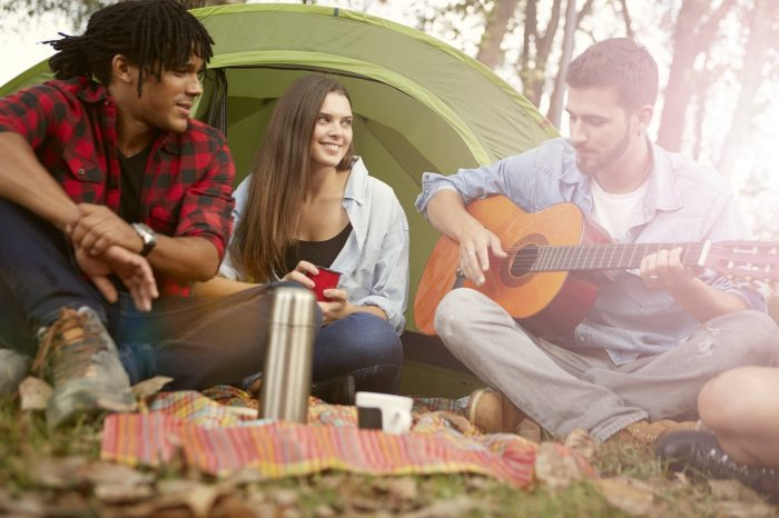 Campers singing